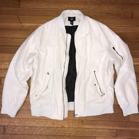 2468b7741 H&M White Bomber Jacket